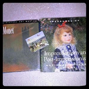 2 mini art books & 1 Monet pin